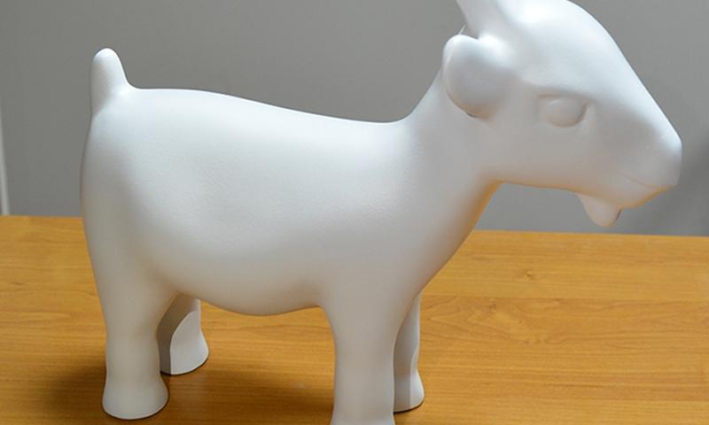 Gotowy model 3D (wys. 40cm) połączony z 3 elementów.