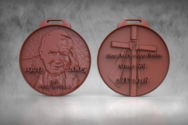 Bieg Do Pustego Grobu - Medal - Nowa Sól 2018 - Św. Jan Paweł II